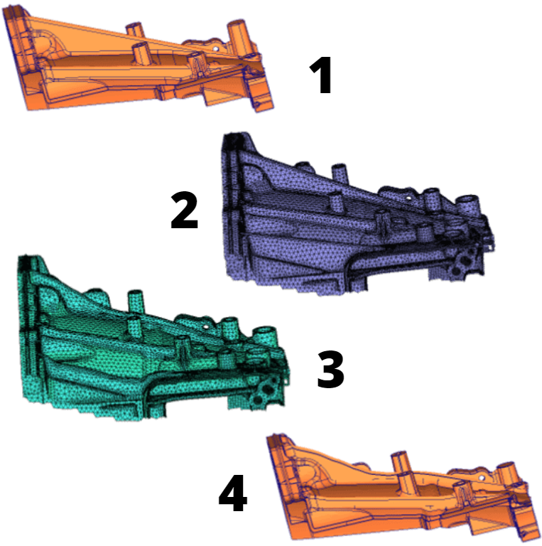 CAD Morphing workflow DEP MeshWorks CAEmesh